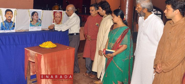 condolence meeting to swarun raj, ranjani guruprasad and subraya mani bhagavatar