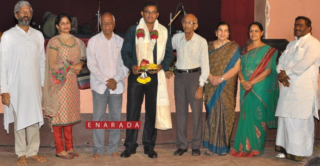 Felicitation to deepak rao pejawar for his outstanding achievement in the field of tenkutittu yakshagana