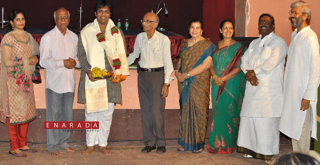 Felicitation to krishna pawan kumar g n for his outstanding achievement in the field of carnatic music