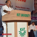 Union Minister for Petroleum and Natural Gas Dr. Veerappa Moily  visited KIIT & KISS today.He lauded the efforts of  Founder of KIIT & KISS, Achyuta Samanta for his efforts to provide 20000 Tribal Children Education, Health care, Food , Accommodation Free of Cost.
