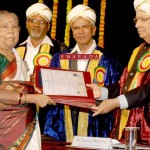 80 year old Shantha Bai, received her master degree  from Sanskrit   and cash prize from Governor Hans Raj Bharadwaj on the occasion of the 13 th annual convocation of Karnataka State Open University in Mysore on July 23, 2013