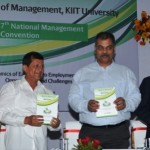The 7th National Management Convention of KIIT School of Management (KSOM) inaugurated on February 21, 2014 at KIIT University, Bhubaneshwar. Prof. Anil Bajpai, Director, KSOM, Ms. Shobha Mishra Ghosh, Senior Director, Education, FICCI, Dr. Achyuta Samanta, Founder, KIIT and KISS, Shri Debabrat Mishra, Director, Hay Group, Prof. P.P. Mathur ,Vice Chancellor, KIIT University and Shri Ashok Kumar Sar, Dean KSOM are seen in the picture.