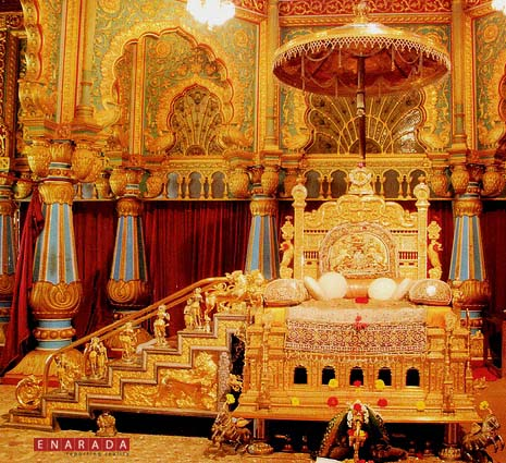 Golden throne in Mysore Palace
