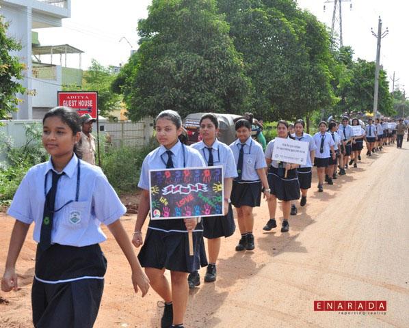 Enarada Com Kiit International School Students Protests Against