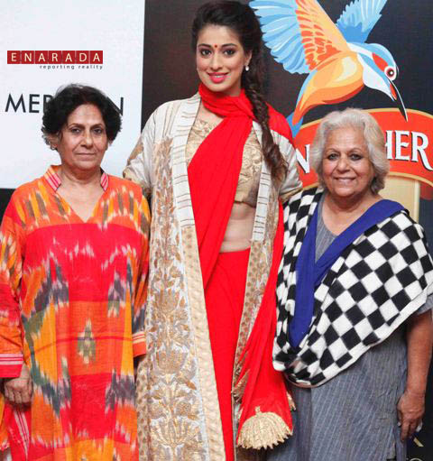 Designer Pali, Actress Raai Laxmi, who is also the Style Ambassador for Kingfisher Ultra Style Week Bangalore, Raai Laxmi & Designer Mona at the announcement press conference of Kingfisher Ultra Style Week Bangalore