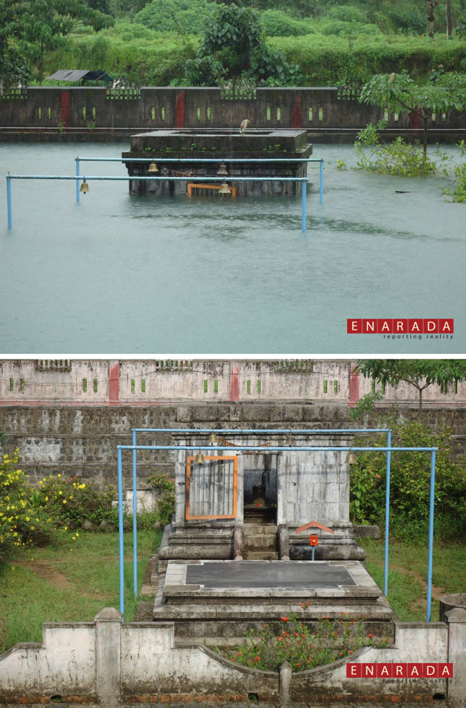 Shiva Temple Garbhagriha immersed in water on August 1, 2014- EN