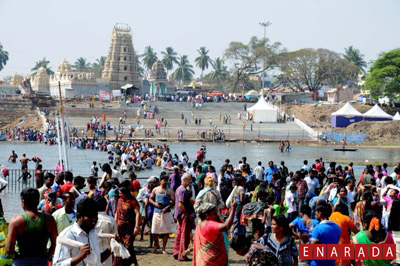 Devotees taking a dip at T Narasipura