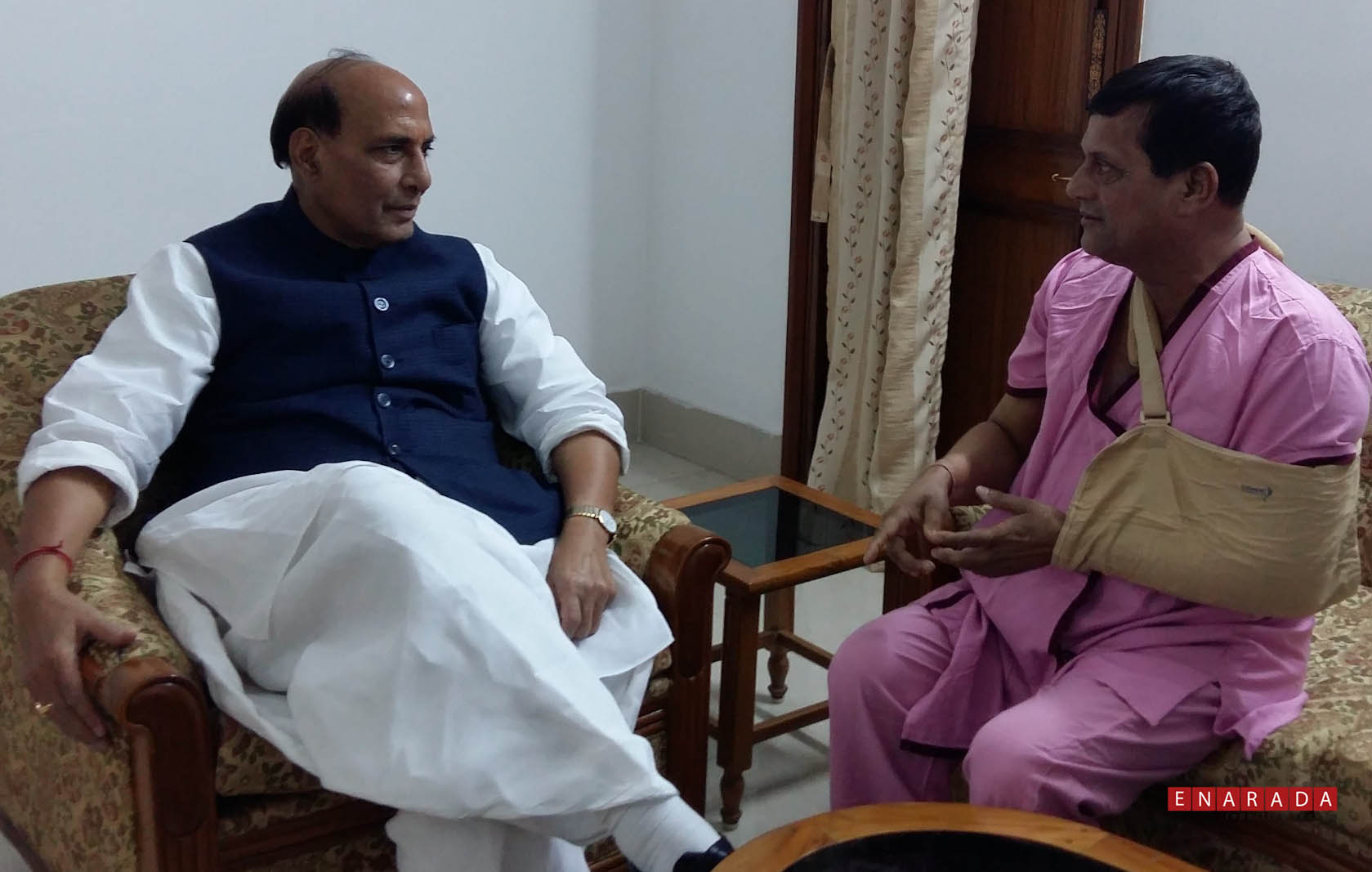 rajnath singh calls on dr achyuta samanta enarada com 19 2016 rajnath singh calls on dr achyuta samanta photo by
