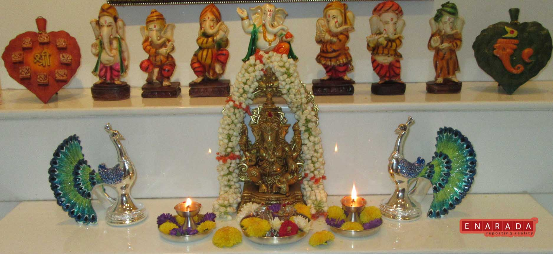 Different Ganesha Idols. eNarada Picture