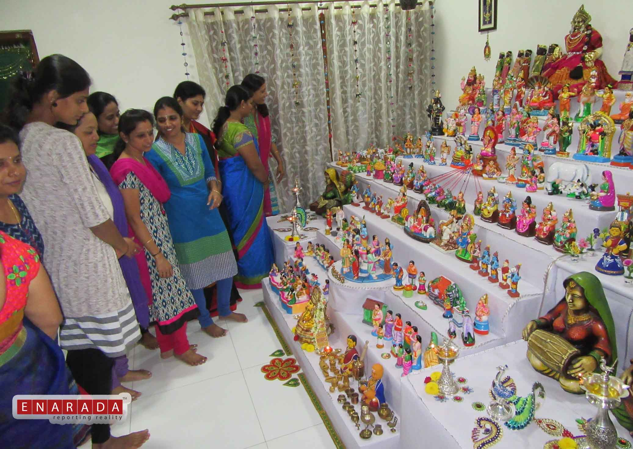 Dolls arrangement in Malleshwaram. Pic by eNarada