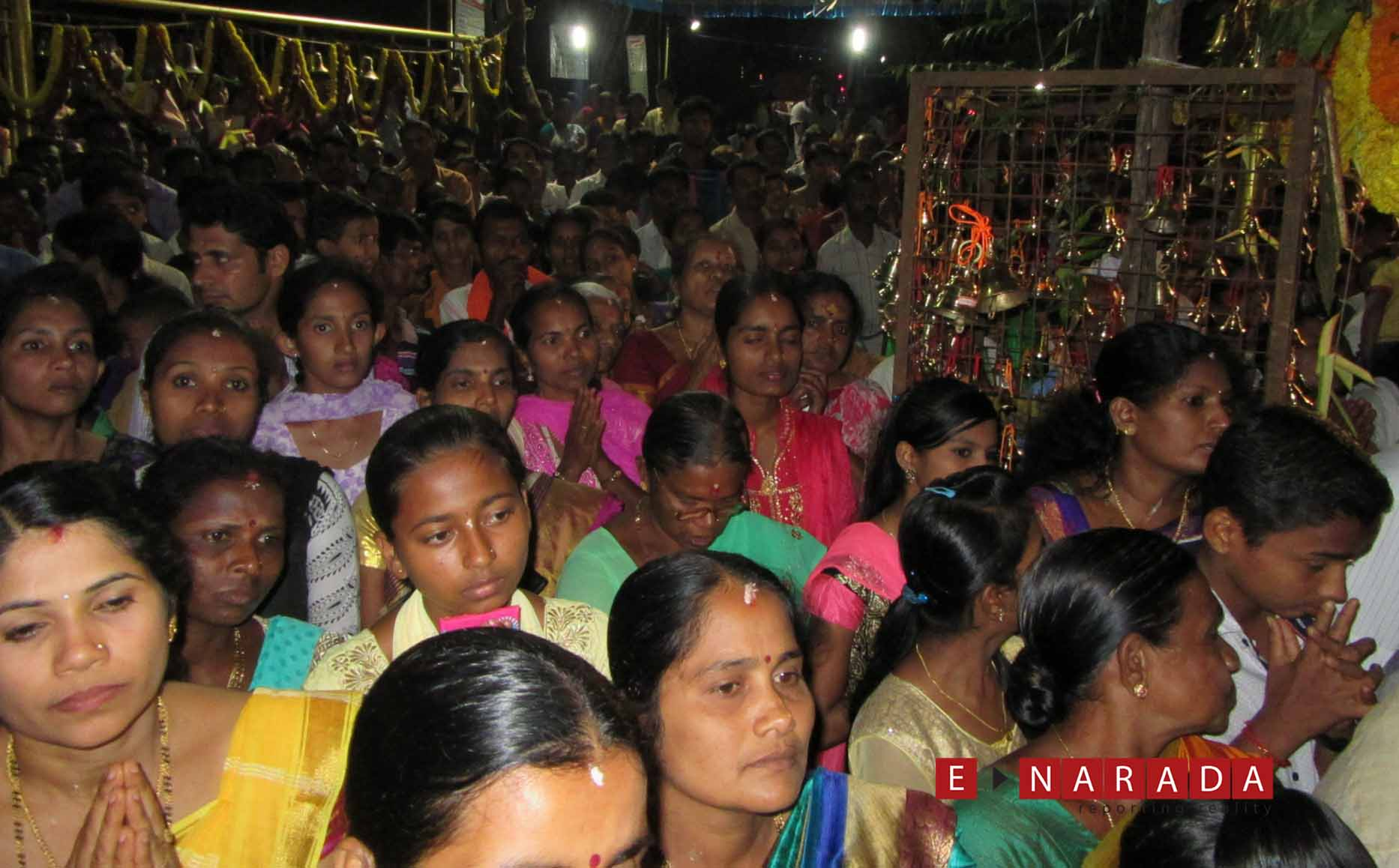 Huge turnout of devotees at the temple as Moodappa seve starts around 9.00 PM