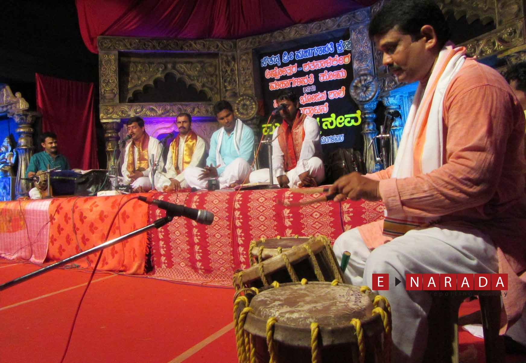 Colourful cultural programmes enthrall the devotees whole night