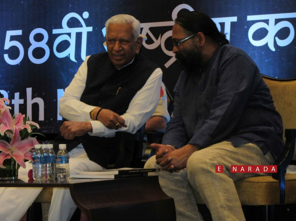 Well-known artiste Mr Adwaita Gadanayak was the chief guest along with Karnataka Governor VR Vala at the Lalita Kala Akademi awards in Bengaluru. eNarada Picture