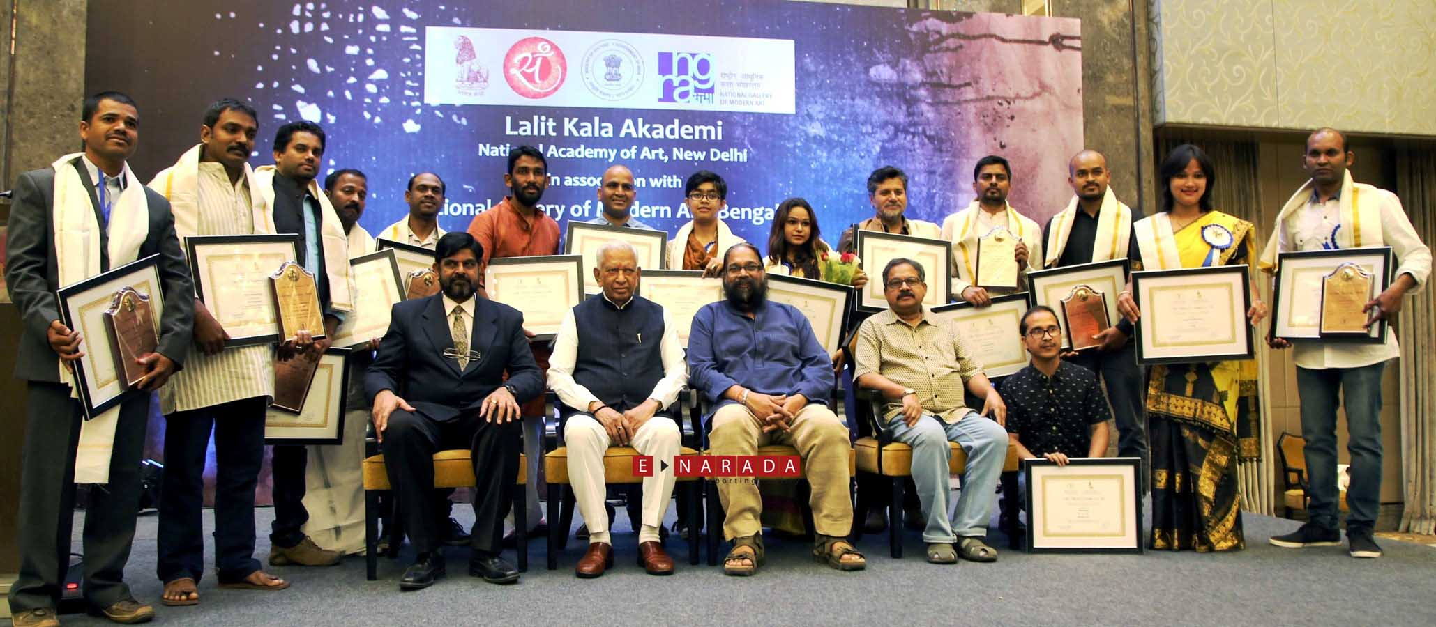 15 artists receive Lalita Kala Akademi awards in Bengaluru on Fe