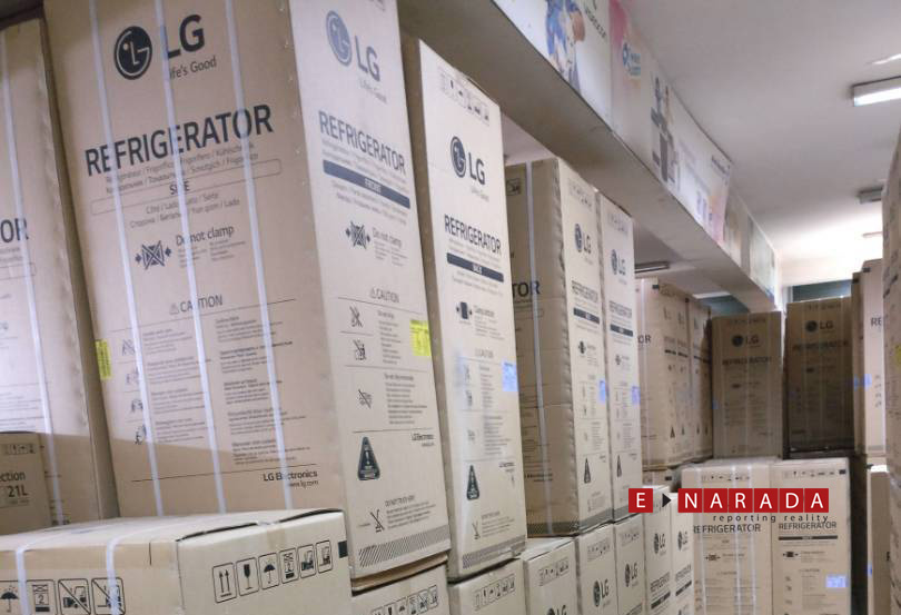 LG products in a wearhouse  in Govindrajnagar. eNarada Pix