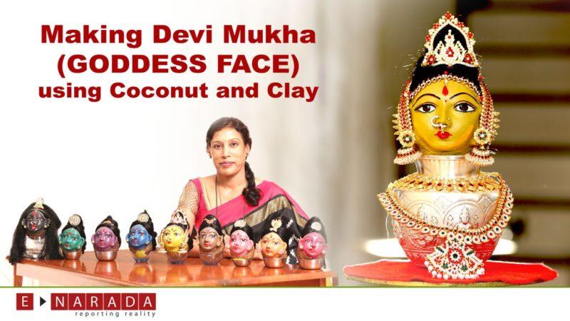 Make your own Devi Mukha (Goddess Face) @ home