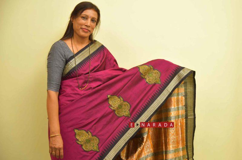 Create your own designer motif Saree at home